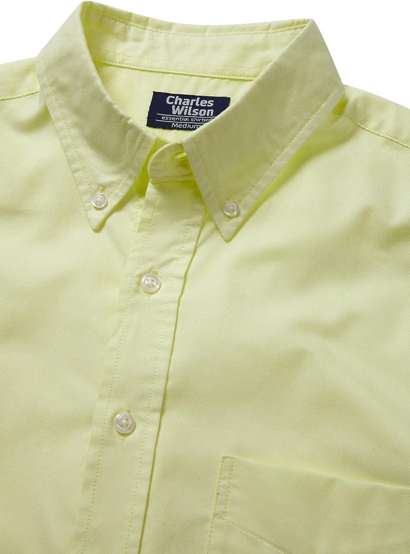 Charles Wilson Short Sleeve Plain Pastel Shirt