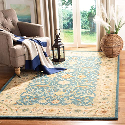 Safavieh Antiquities Collection AT14E Handmade Traditional Oriental Blue Wool Area Rug 6' x 9'