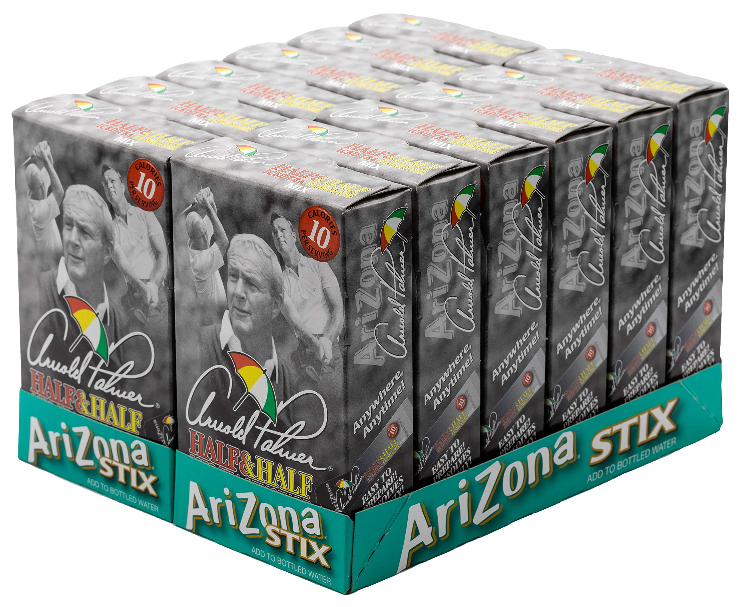 Arizona tea, Arnold Palmer Mix Stix, Half Iced Tea & Half Lemonade, 10 stix, 1.2 Oz (Pack of 12) by Arizona