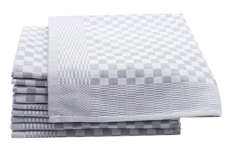 ZOLLNER Set de 10 Trapos de Cocina de algodón, diseño en damero, Gris Antracita, 46x70cm: Amazon.es: Hogar
