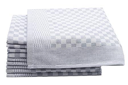 ZOLLNER 10 Trapos de Cocina, algodón, a Cuadros Grises, 46x70 cm: Amazon.es: Hogar