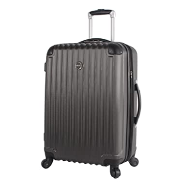 Lucas Outlander Large Hard Case 28 inch Expandable Rolling Suitcase With Spinner Wheels (One Size, Graphite)