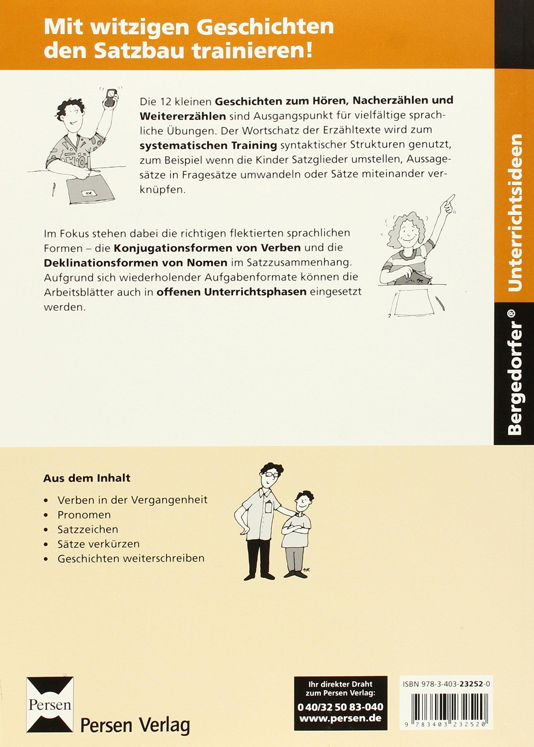 Das Satzbau-Training: Kleine Geschichten mit systematischen Übungen ...