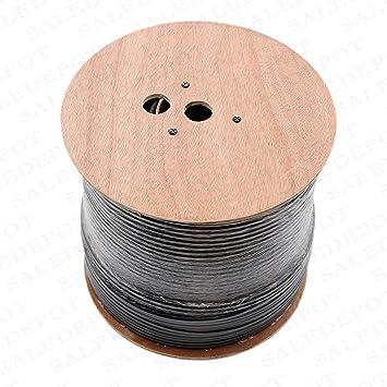 Amazon.com: RG11 Cable coaxial rollo de tri-shield Drop con ...