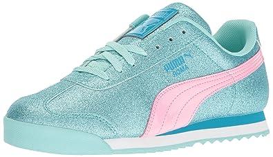 c4996e77298 PUMA Roma Glitz Glamm Jr Chukka Aruba Blue-Prism Pink 5.5 M US Big Kid