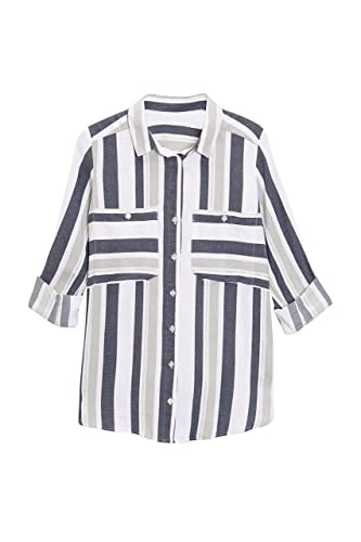 next Mujer Camisa Rayas Corte Regular