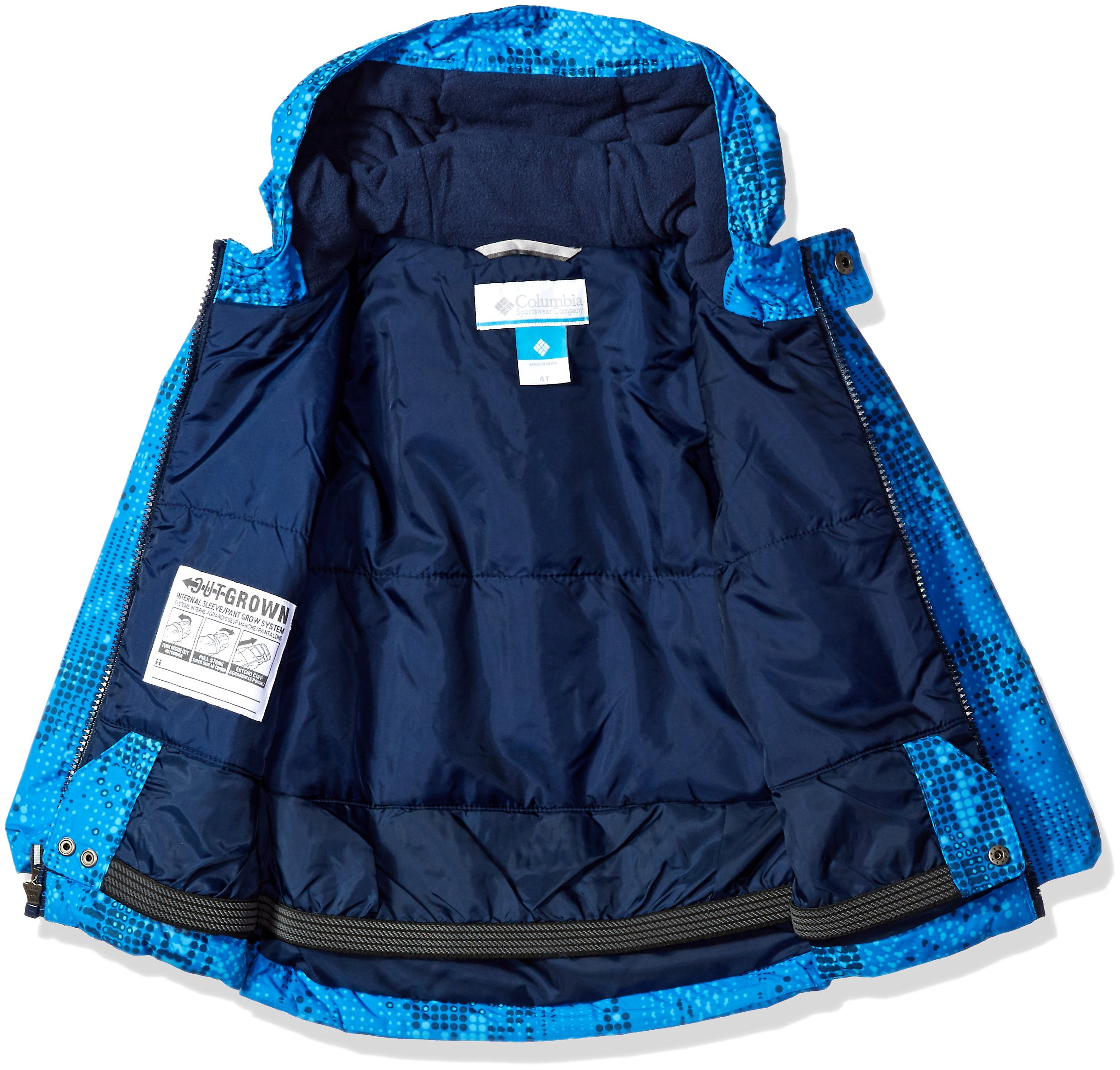 Columbia Little Boys' Frosty Slope Set, Super Blue Energy Dot, 4T by Columbia (Image #3)