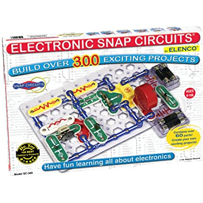 Snap Circuits Classic SC-300 Electronics Exploration Kit | Over 300 Projects | Full Color Project Manual | 60+ Snap Circuits Parts | STEM Educational Toy for Kids 8+: Toys & Games