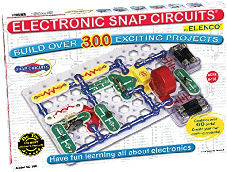 amazon com snap circuits classic sc 300 electronics exploration kitAdd The Snap Circuits Blocks To The Base Grid As Demonstrated In The #6
