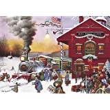 Buffalo Games Whistle Stop Christmas by Charles Wysocki Jigsaw Puzzle (500 Piece)