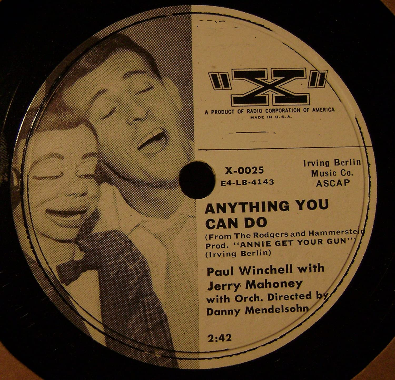Paul Winchell With Jerry Mahoney - Anything You Can Do/ Your