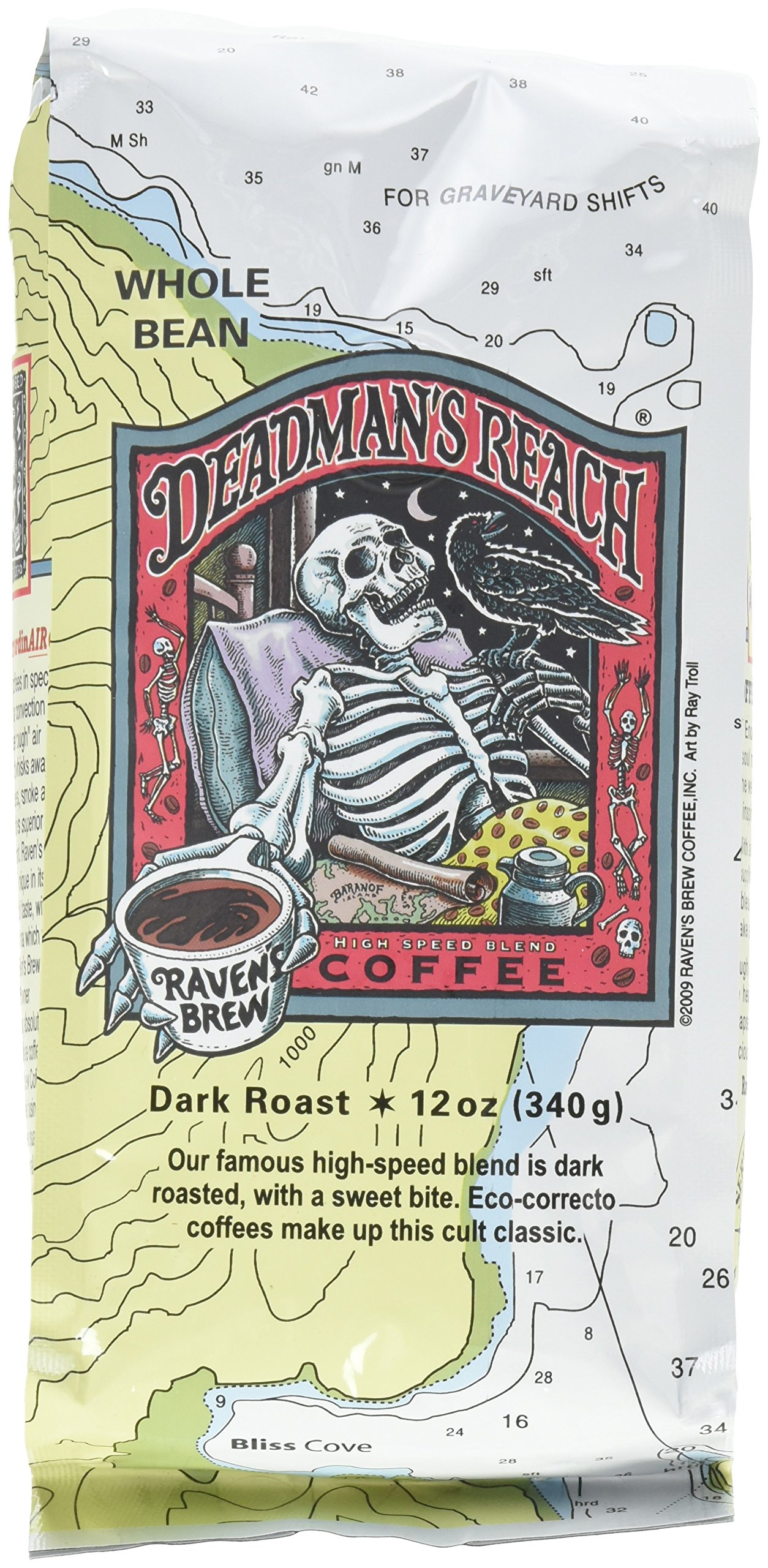Raven's Brew Coffee Deadman's Reach Whole Bean Coffee, 12 oz by Raven's Brew Coffee