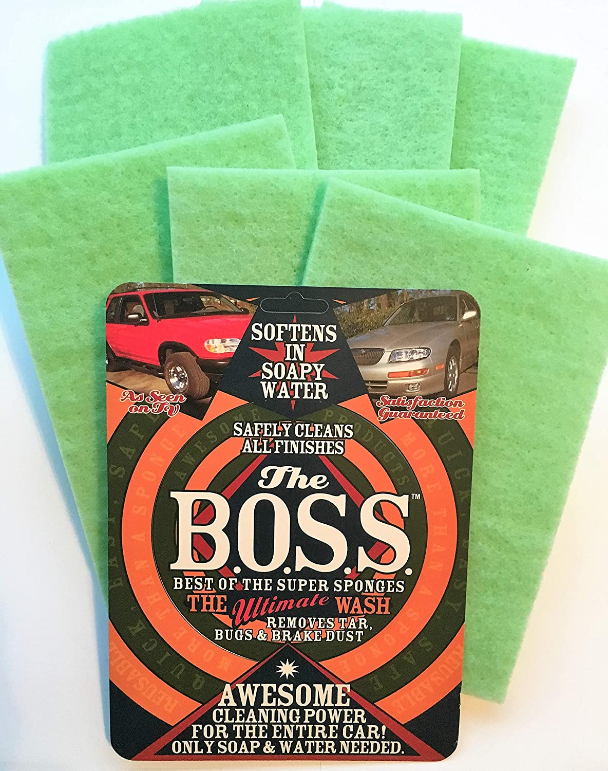 BOSS Bug Removing Sponge, Pack of 6 for the Price of 4!