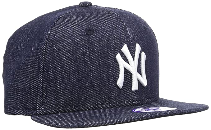 A NEW ERA Era Kids Denim Basic 9FIFTY NEYYAN Navy White-Gorra Niños ... c6a87825352