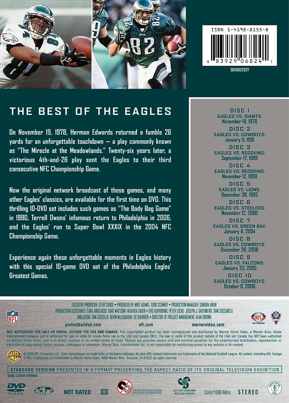 Amazon.com  NFL  Philadelphia Eagles - 10 Greatest Games  Various ... 18eee4af2