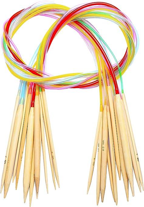 24 inch bamboo circular knitting needles US 0 to 10