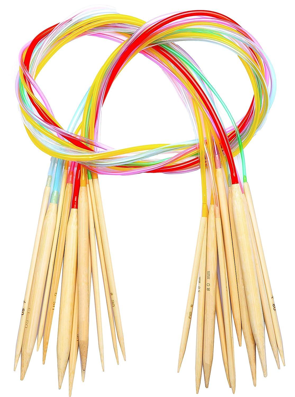 40 inch Circular Knitting Needles Set from Size 3 to 15 cuteDIY 4336924216