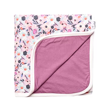 20964fc963 Amazon.com  Large Premium Knit Baby 3 Layer Stretchy Quilt Blanket ...