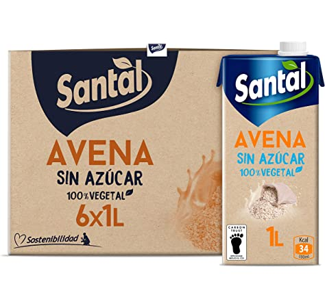 Santal Bebida Vegetal Pack of 6 x 1000 g (total: 6000 gr): Amazon.es: Alimentación y bebidas