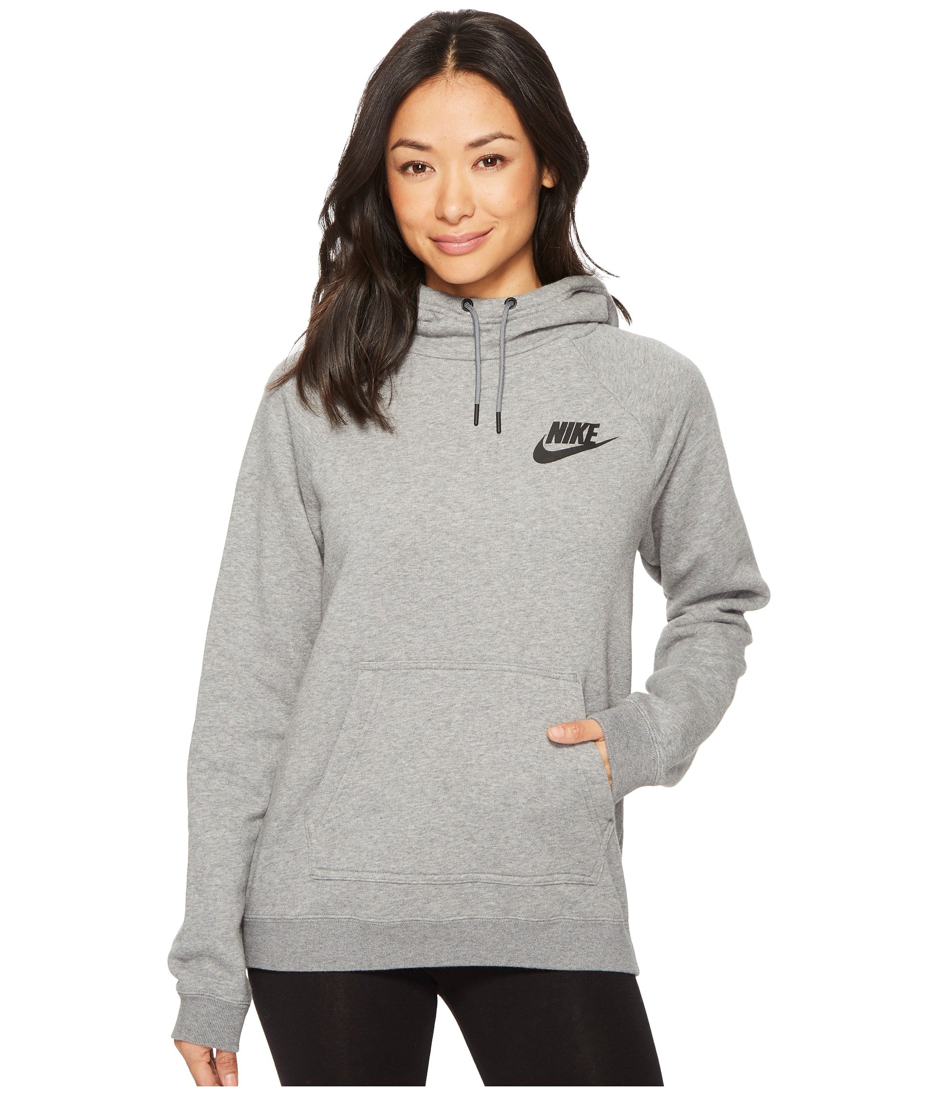 6dec6f50d820 Galleon - NIKE Women s Sportswear Rally Pullover Hoodie Carbon Heather Cool  Grey L