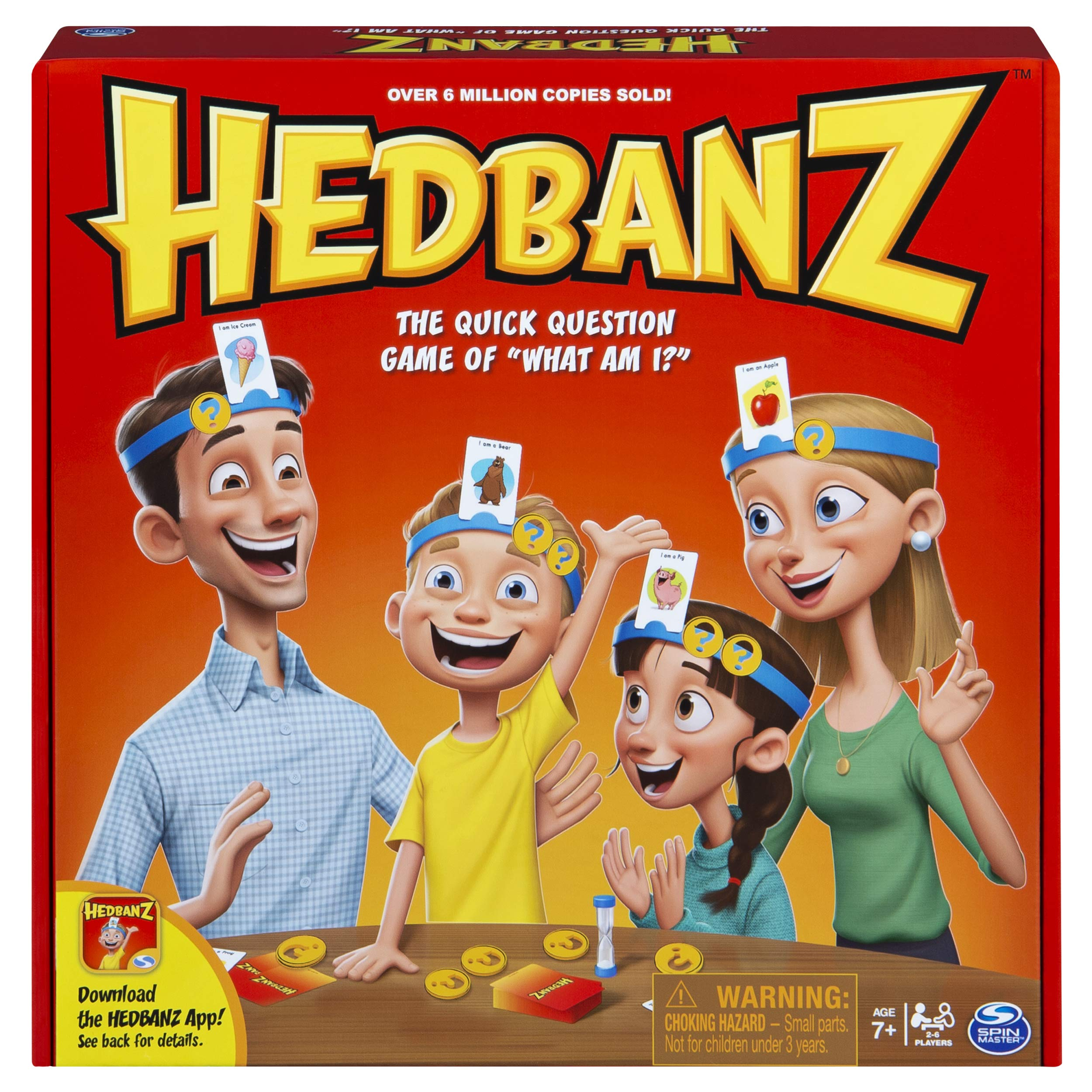HedBanz Family Quick Question Guessing Board Game (Edition May Vary) by Spin Master Games