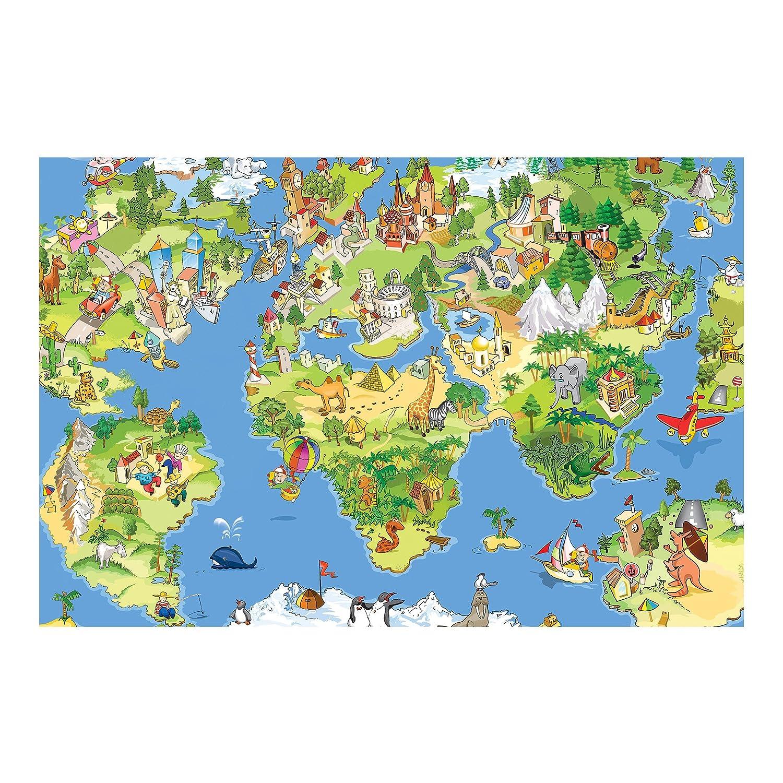 Vliestapete – Great And Funny Worldmap – Wandbild breit