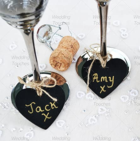 Pack of 100 mini heart wooden chalkboard pendant perfect for pack of 100 mini heart wooden chalkboard pendant perfect for vintage wedding tables place names junglespirit Gallery