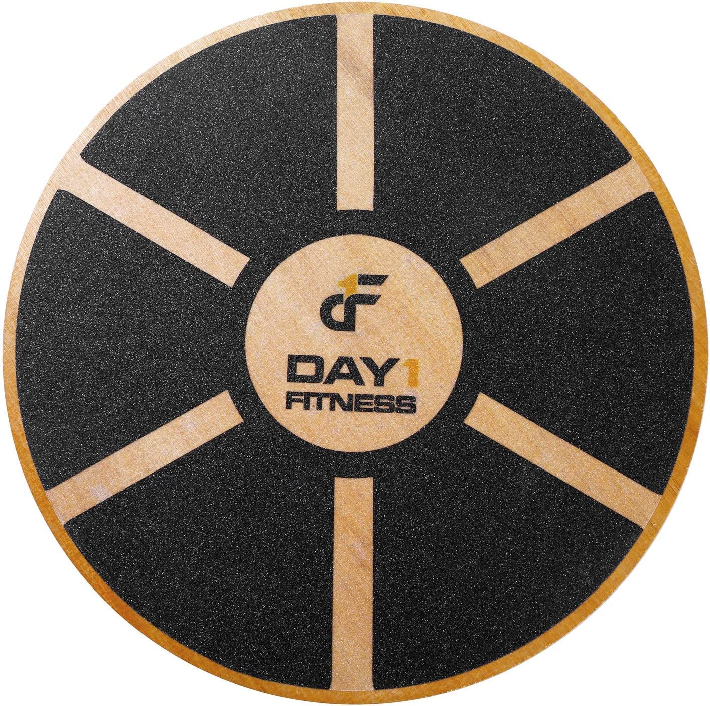 Day 1 Fitness Balance Board, 360 Rotation, for Balance, Coordination, Posture – Large, Wooden Wobble Boards with 15 Tilting Angle for Workouts, Physical Therapy – Premium Core Trainer Equipment