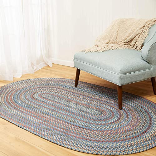 Super Area Rugs Cherry Hill Braided Rug Soft Toned Wool Casual Braided Carpet