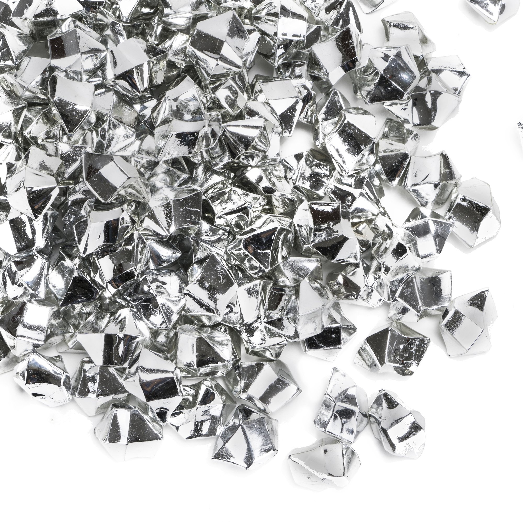 CYS EXCEL Acrylic Ice Rocks for Vase Fillers, Acrylic Gems for Table Scatters, Event, Wedding, Birthday Decoration (Acrylic Ice Silver, 4 Pounds) Wholesale Prices, Saving More! by CYS EXCEL