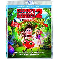 Cloudy with a Chance of Meatballs 2 - Il pleut des hamburgers 2 [Blu-ray 3D + DVD + UltraViolet] (Bilingual)