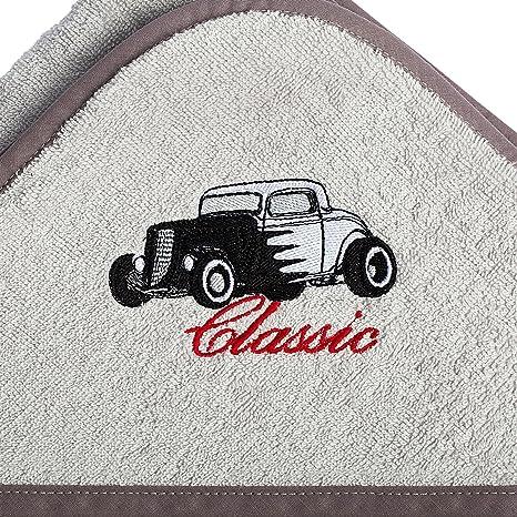 """Toalla de rizo con capucha 100x100 """"Silver Classic"""" Toalla de baño de algodón"""