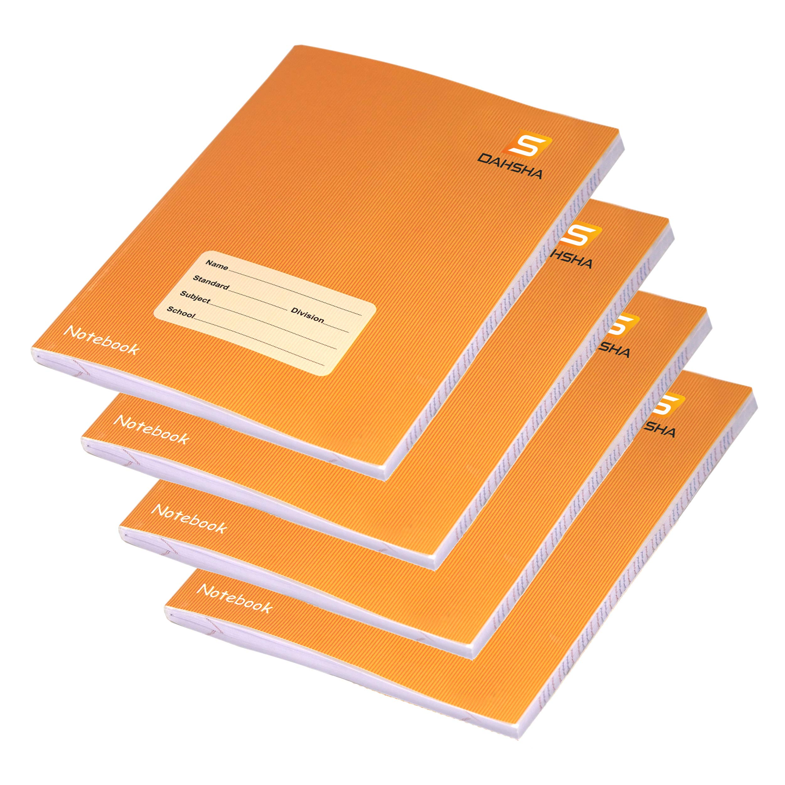 DAHSHA Pack of 4, Four Line Notebooks for English Writing | Ruled 172 Pages  in Each Book | Notebook for Kids| Notebook for Student (18 cm X 24 cm) –  Brown- Buy Online in Jordan at Desertcart - 210432706.
