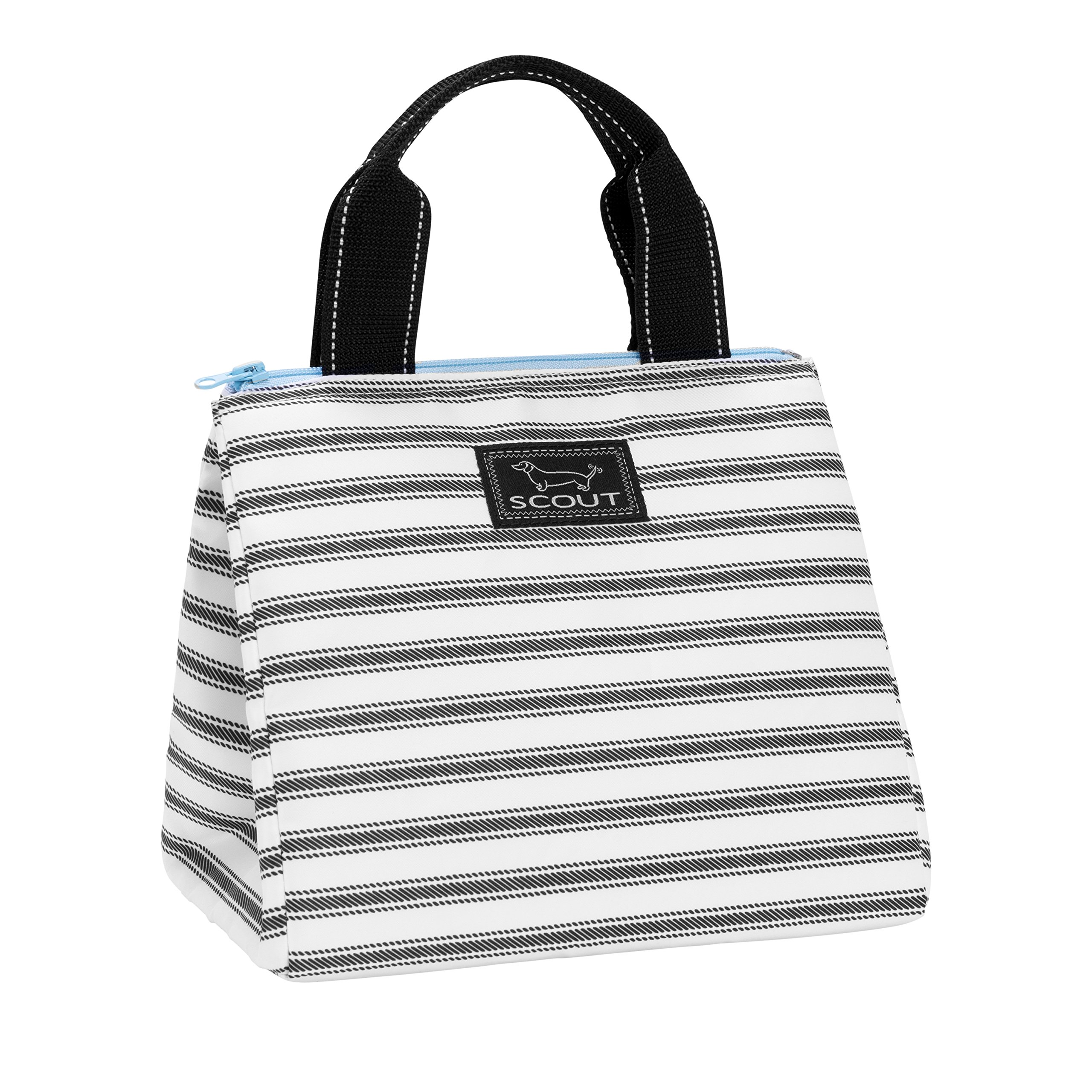 SCOUT Eloise Insulated Lunch Box, Soft-sided Handbag Inspired Design, Heat-sealed, PVC-free Liner, Water Resistant, Zips Closed, College Ruled