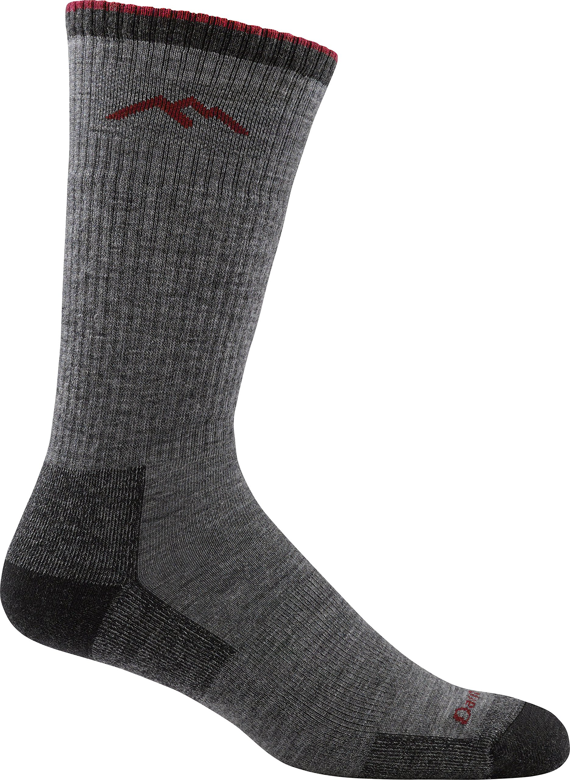 Darn Tough Men's Wool Boot Cushion Sock (Style 1403) - 6 Pack Special Offer (Charcoal, Medium) by Darn Tough