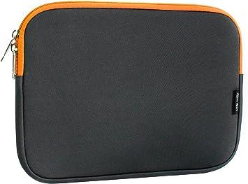 Emartbuy Carpeta Funda Estuche Neopreno De Color Gris Oscuro Y Interior Naranja, 10-11 Pulgadas, Resistente Al Agua, En Zip Adecuado para Los Siguientes Dispositivos: Amazon.es: Electrónica