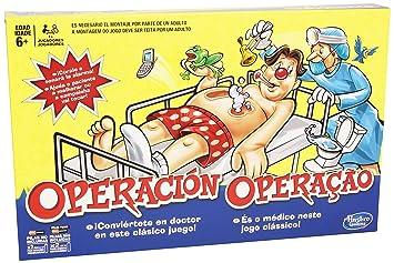 96358c561560 Hasbro Gaming B2176B09, Juego de Mesa Operación, Versión  Española/Portuguesa: Amazon.es: Juguetes y juegos