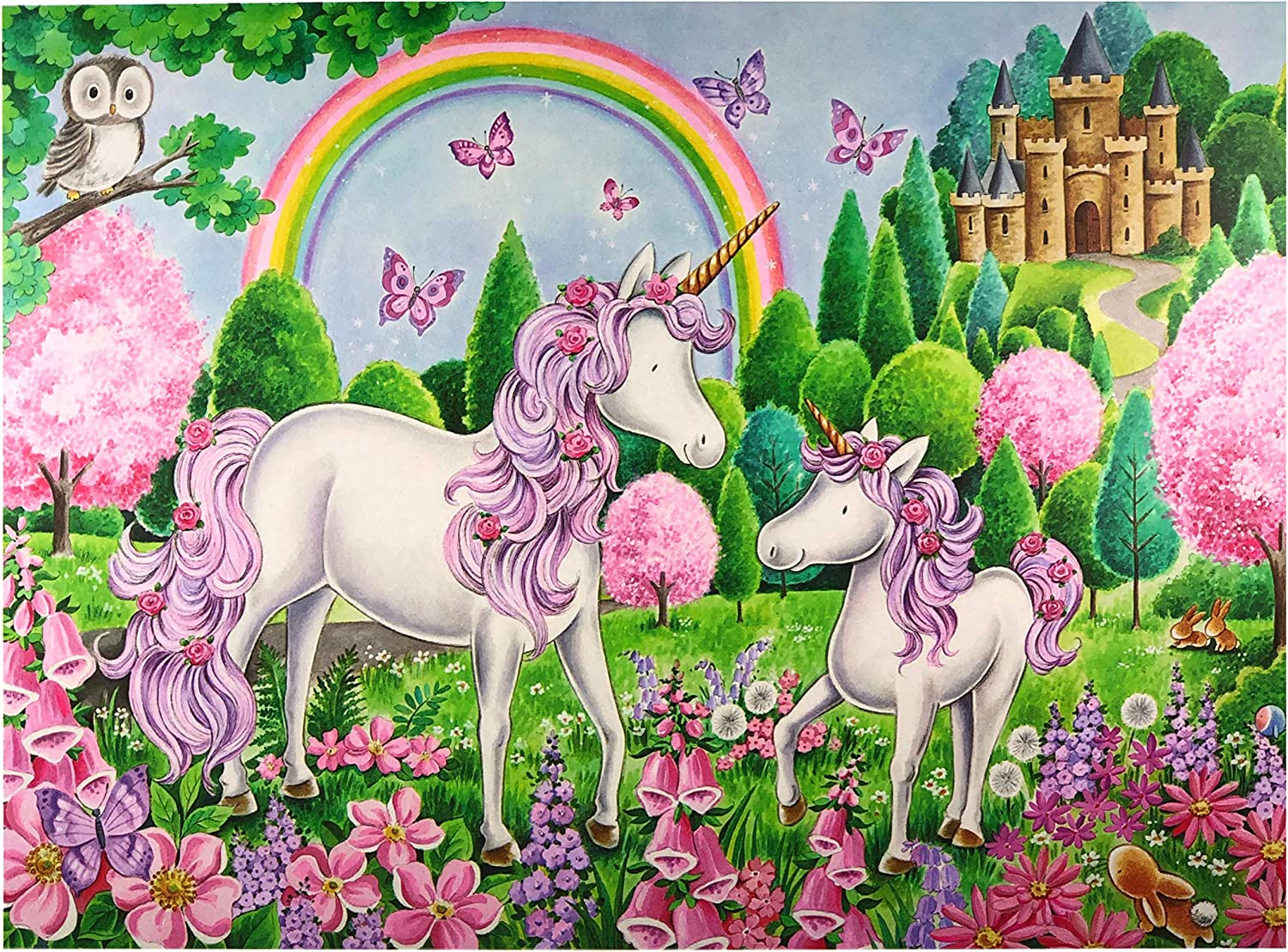 Teens and Kids Enchanted Unicorns Games for Adults Page Publications Collection Jigsaw Puzzles 100 Pieces for Adults