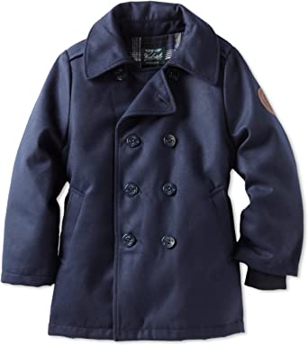 Amazon.com: Woolrich Big Boys' Double Breasted Peacoat: Dress Coats:  Clothing