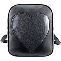 ZORFIN 2019 Summer Candy Backpacks Transparent Love Heart Shape Pu Leather School Bags Purse Lovely Ita Bag