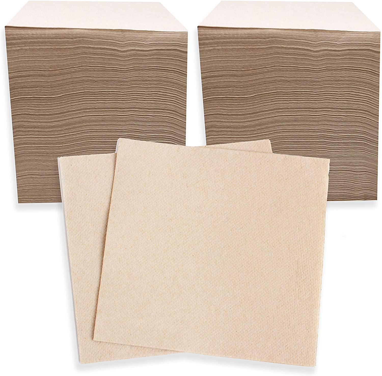 500 Ct 13 x 13 Inch Eco Friendly Biodegradable Recycled Napkins, Compostable Napkins For Lunch