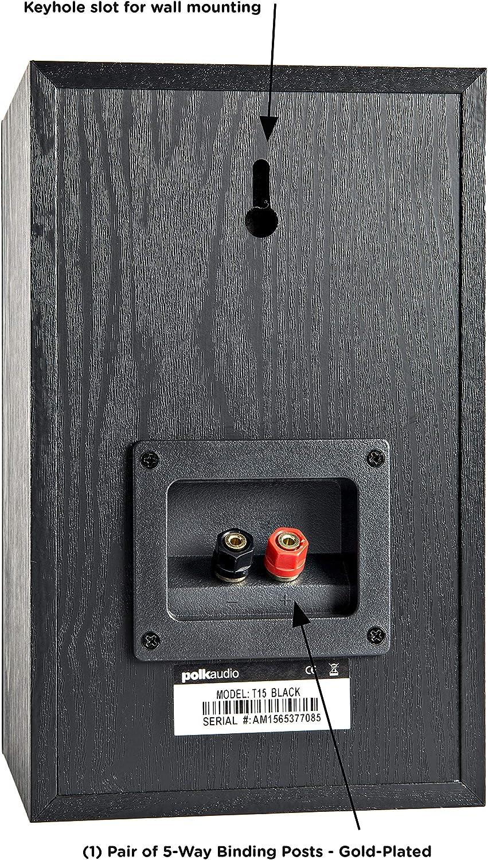 Amazon.com: Bocinas de estante, par, negras marca Polk Audio ...