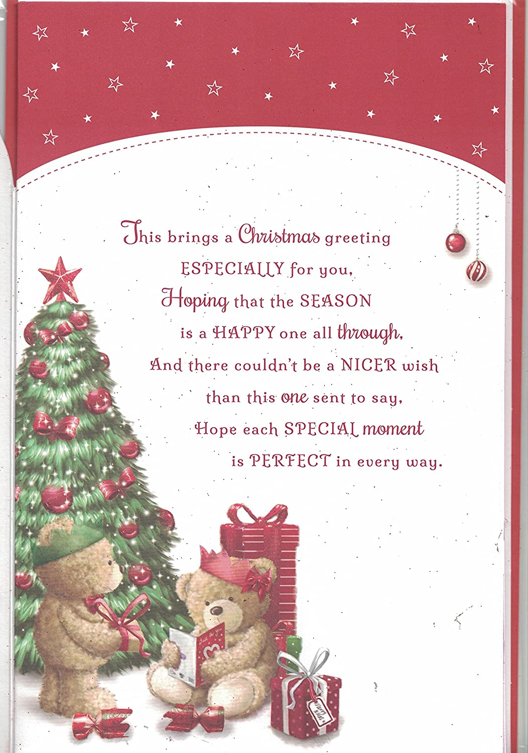 Wife christmas card to my very special wife merry christmas wife christmas card to my very special wife merry christmas santa bear christmas tree extra large 8 page card amazon toys games kristyandbryce Images