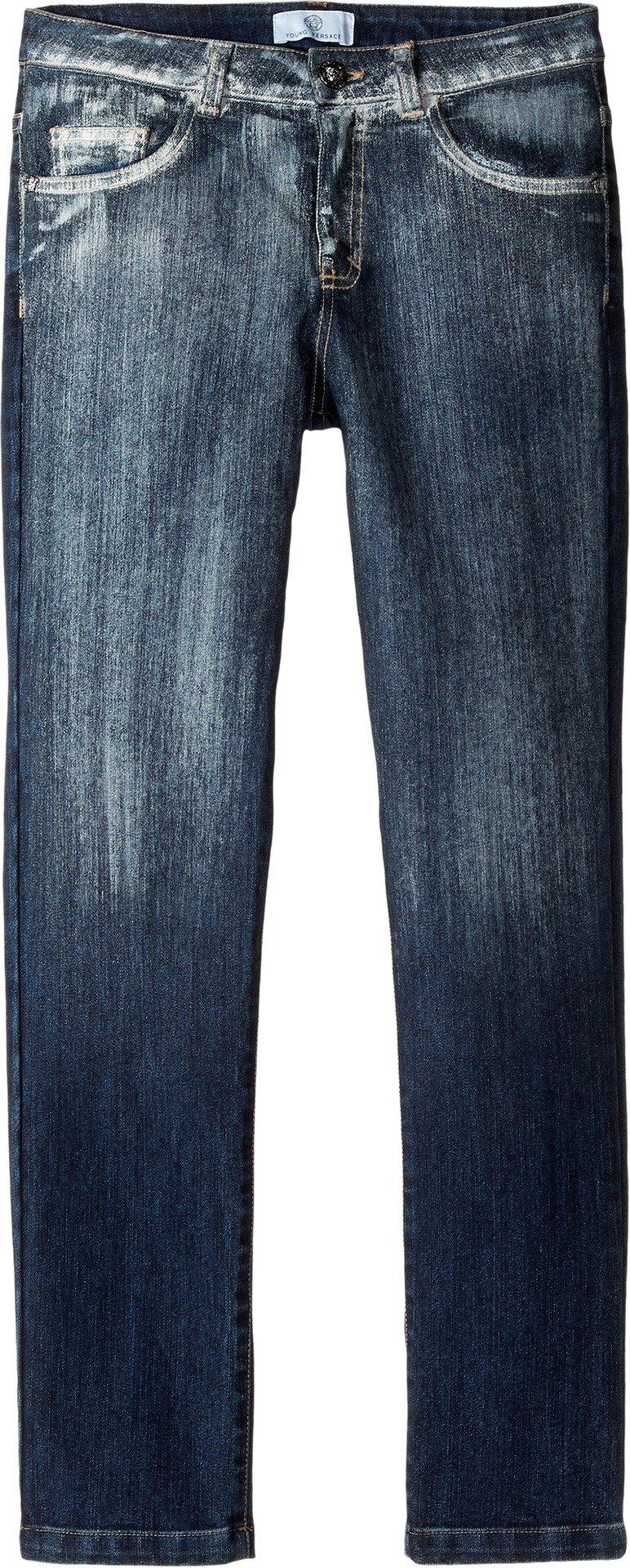 Versace Kids  Boy's Faded Denim Pants (Big Kids) Denim Jeans by Versace