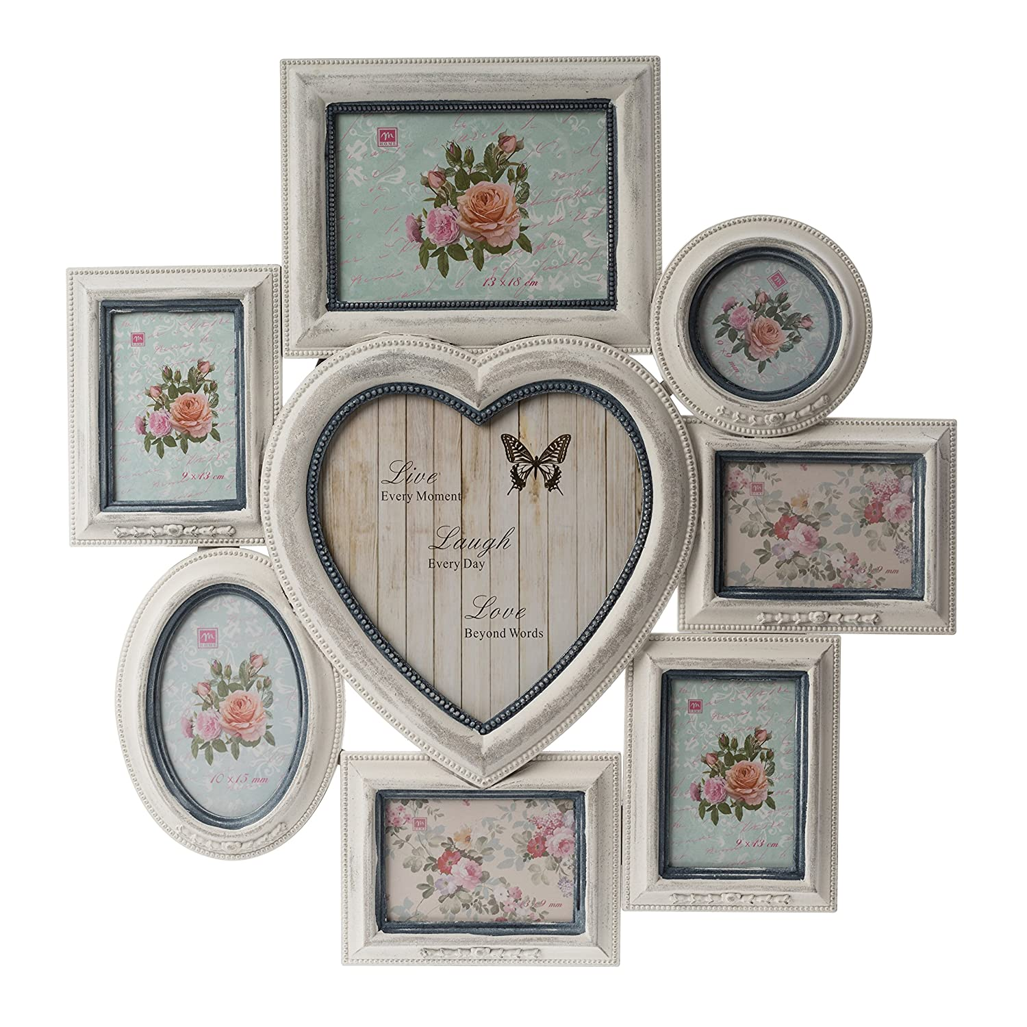 elbmoebel Wooden 2-7 photo frame hanging picture in shabby chic ...