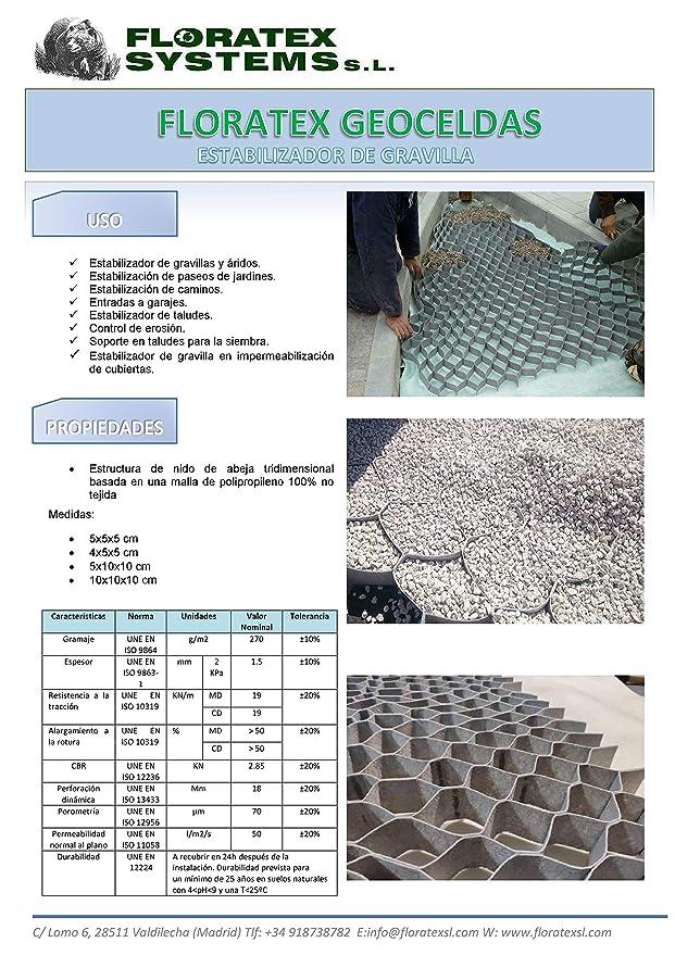 Geocelda, Estabilizador de gravilla 10 cm de alto x 10x10 cm ...