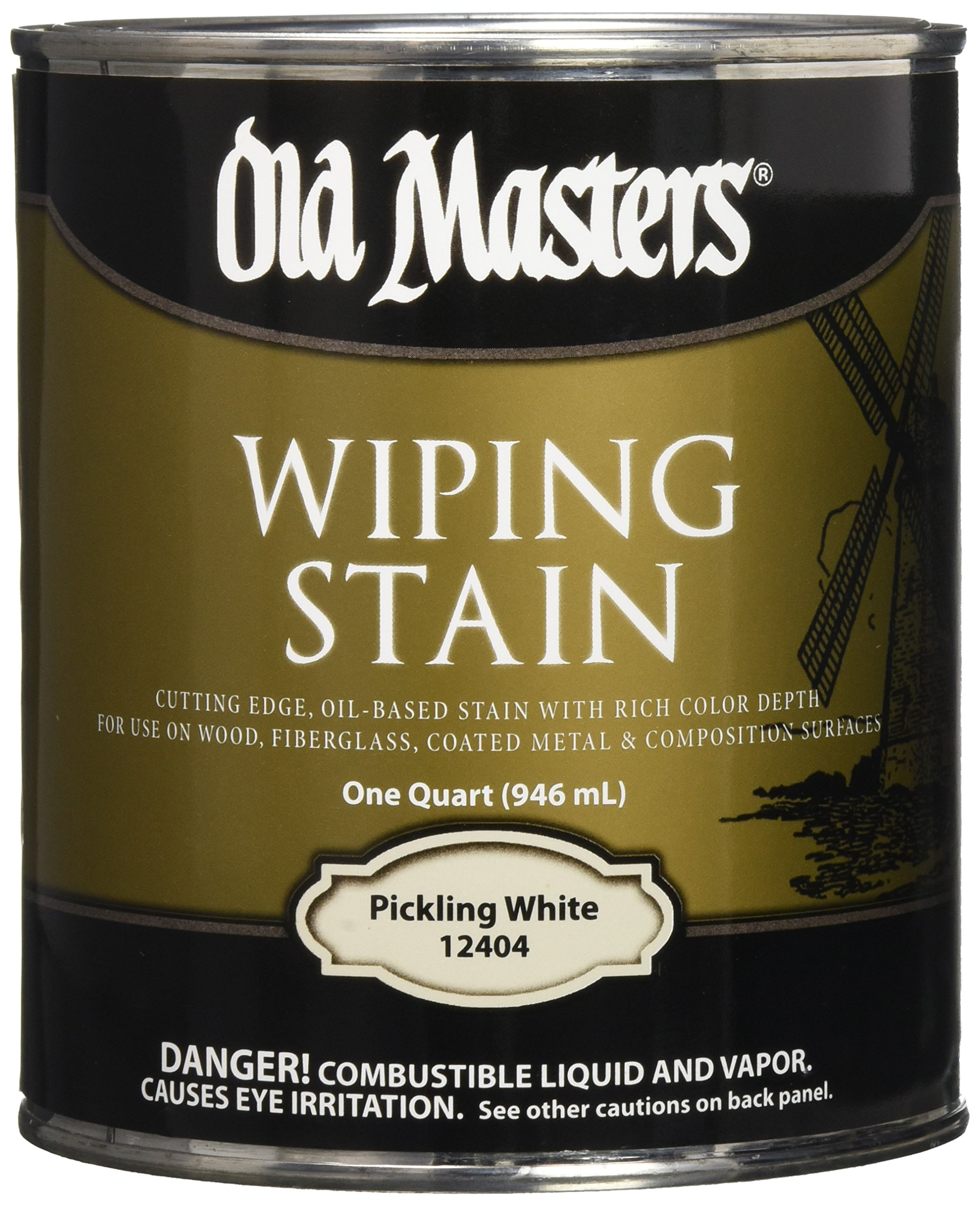 OLD MASTERS 12404 Wip Stain, Pickling White
