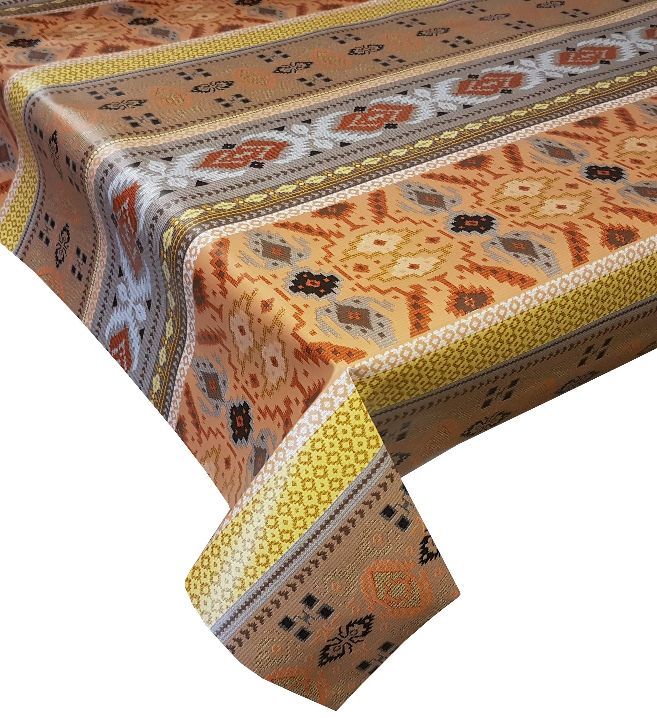 140 x 200cm Oval Wipe Clean PVC Tablecloth Lemons