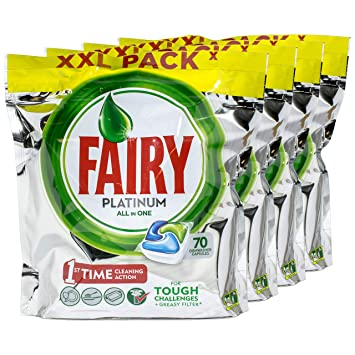 Fairy Platinum All in One - Pastillas para lavavajillas (70 ...