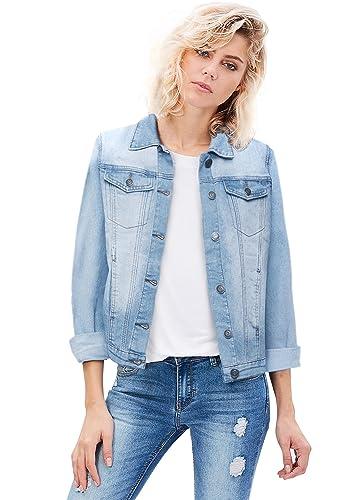 Revolt Women Junior Classic 4 Pockets Denim Jacket At Amazon Women S